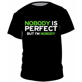 Nobody is perfect, But I'm nobody