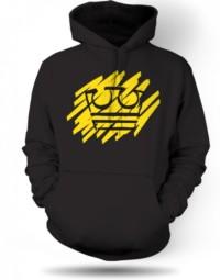 Černá Mikina Jirka Král žlutá koruna 31200
