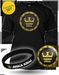 Černý Set Jirka Král - Tričko