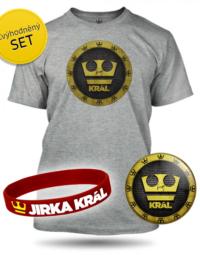 Šedý Set Jirka Král pánské - tričko