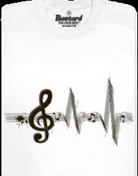 Žiju muzikou bílé pánské tričko
