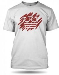 Bílé Tričko Jirka Král červená koruna 24545