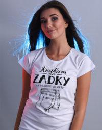 B 12 Koukám na zadky bílé dámské tričko