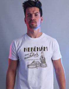 B 12 Neběhám bílé pánské tričko