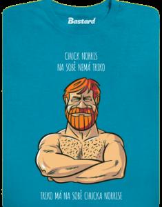 Chuck Norris modré pánské tričko