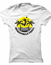 Dámské tričko Beach Volleyball Sun