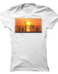 Dámské tričko Beach Volleyball Sunset