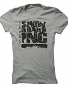 Dámské tričko Extreme Freestyle Snowboarding