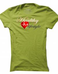 Dámské tričko Healthy Lifestyle