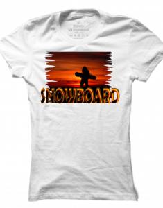 Dámské tričko Snowboard Sunset