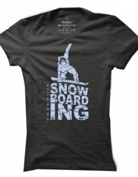 Dámské tričko Snowboarding Silhouette