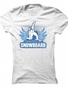 Dámské tričko Winter Sport Snowboard