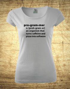 Dámske tričko s motívom Pro-gram-mer