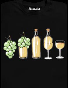 Evoluce bílého vína pánské tričko