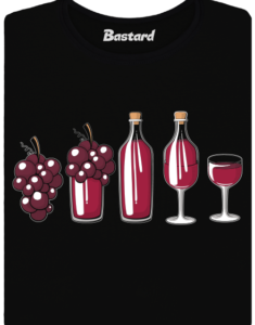 Evoluce červeného vína dámské tričko