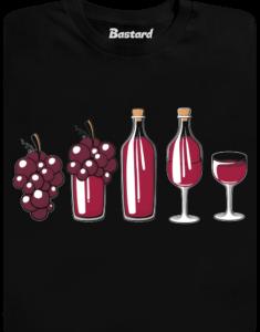 Evoluce červeného vína pánské tričko