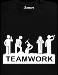 Flákači černé pánské tričko