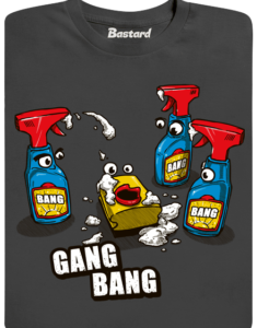 Gang Bang šedé pánské tričko