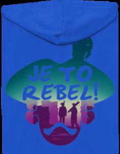Je to rebel pánská mikina – záda