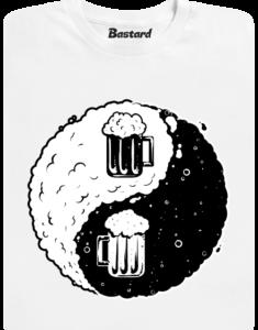 Jin Jang pivo bílé pánské tričko