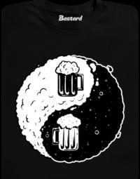 Jin Jang pivo černé pánské tričko