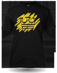 Jirka Král žlutá koruna černé tričko dětské velikost M