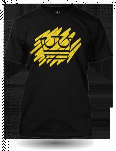 Jirka Král žlutá koruna černé tričko pánské velikost L