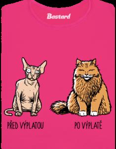 Kočka před výplatou dámské tričko