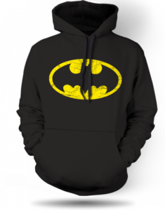 Mikina Batman logo distressed Unisex 1084
