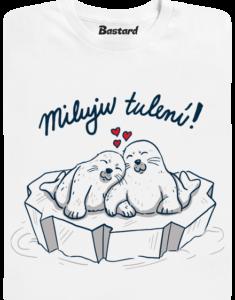 Miluju tulení bílé pánské tričko