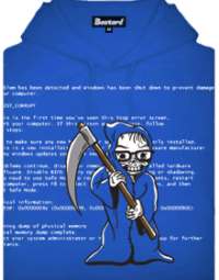 Modrá smrt pánská mikina