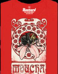 Moucha červené dámské tričko
