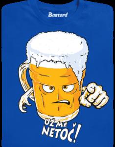 Netoč mě modré pánské tričko