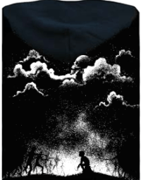 Nightmare pánská mikina – záda