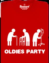 Oldies party červené pánské tričko