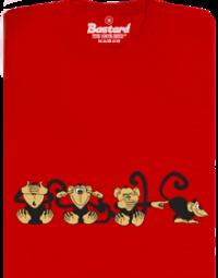 Opice červené pánské tričko
