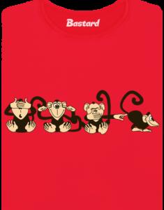 Opice červené dámské BIO tričko