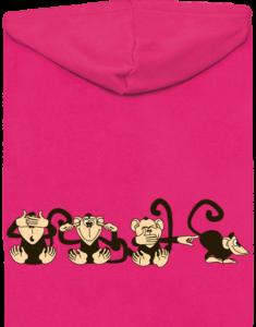Opice dámská mikina – záda