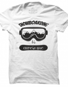 Pánské tričko Awesome Snowboarding