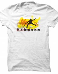 Pánské tričko Badminton Abstract