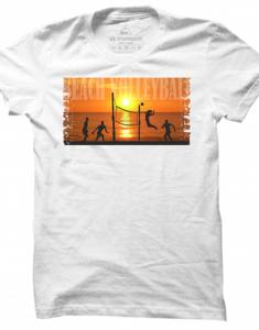 Pánské tričko Beach Volleyball Sunset