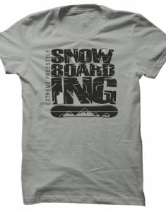 Pánské tričko Extreme Freestyle Snowboarding