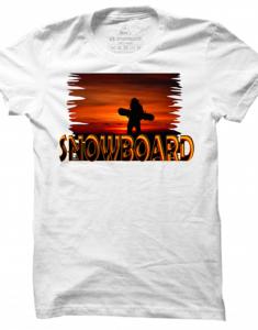 Pánské tričko Snowboard Sunset