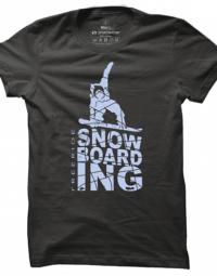 Pánské tričko Snowboarding Silhouette