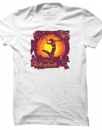 Pánské tričko Volleyball Silhouette