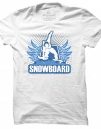 Pánské tričko Winter Sport Snowboard