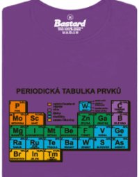 Periodická tabulka fialové dámské tričko