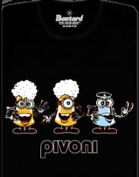 Pivoni černé pánské tričko