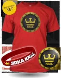 Set Jirka Král červené tričko pánské velikost L