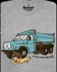 Tatrická masáž šedé pánské tričko